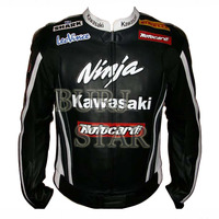 Kawasaki Ninja Motorbike Leather Jacket - High Quality , 100% Cowhide Leather