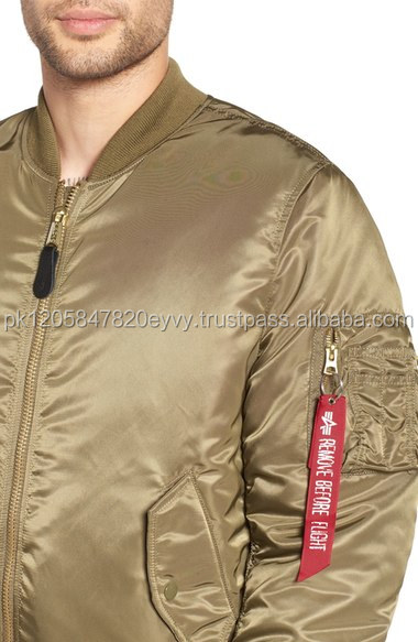 Satin Plain Men Silk Bomber jacket