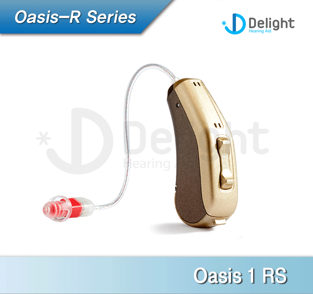 """Oasis"" 2016 New Design RIC Hearing Aid Economic DSP Processor M Receiver (Double Closed Dome)"
