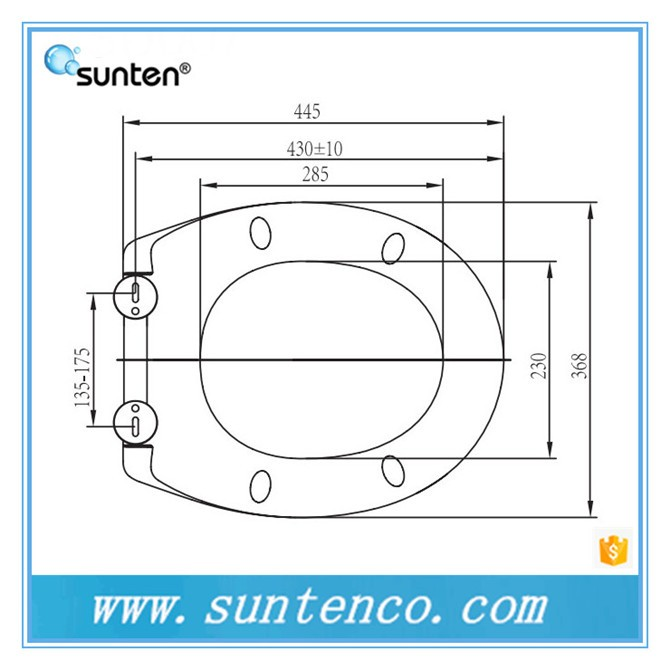 SUNTEN OEM soft close one button quick release ceramic toilet seat