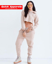 new design womens ladies blank Sweatshirt Pants 2Pcs Split Tracksuits