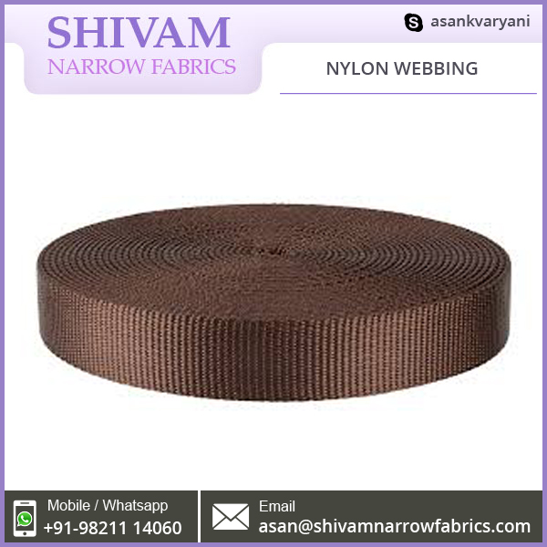 Nylon Webbing Used In Applicatios Like Sports Equipment And Parachute
