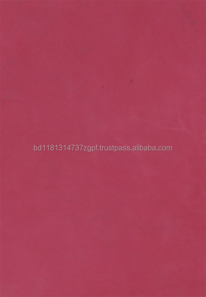High quality Cow crust leather Full vegetable RED