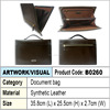 Brown Synthetic Leather Document bag / Briefcases