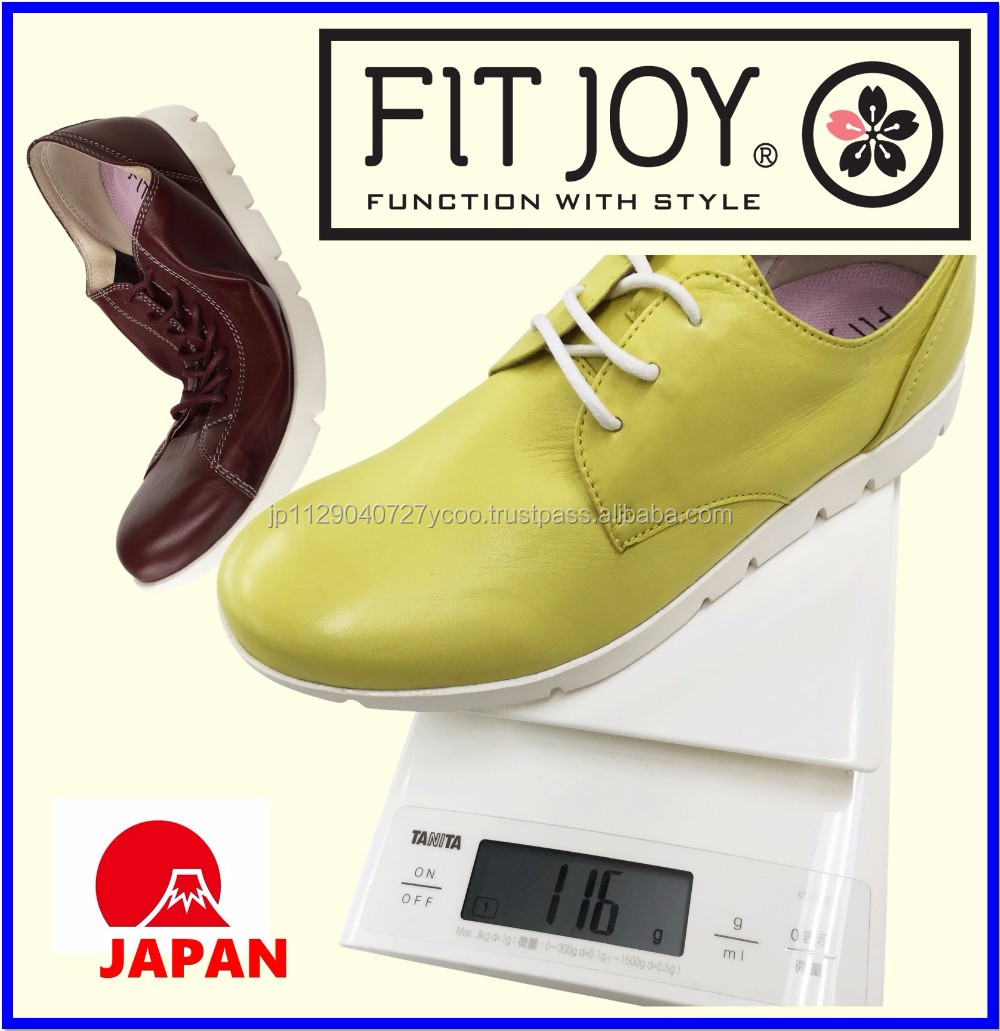 Japanese design casual WOMEN'S leather shoes made in Cambodia