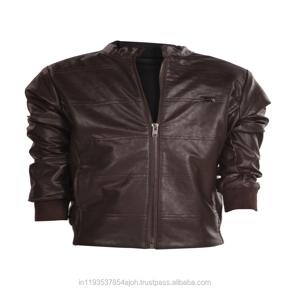 Trendy Stylish Boys Leather Jackets, Custom Movie Leather Jackets, High Quality Leather Jacket in dark brown color