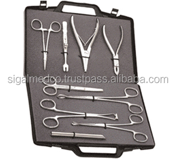9PCS Body Piercing Supplies Tools Pliers Forceps Needles Accessories Kit