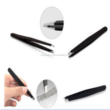 High Professional Eyebrow Tweezers Hair Beauty Slanted Stainless Steel Tweezers / Hair Plucking tweezers