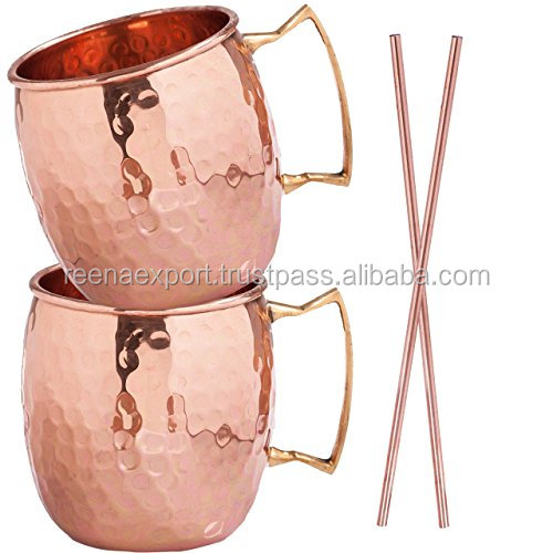 Low price hammered manufacturer moscow mule copper mug from China