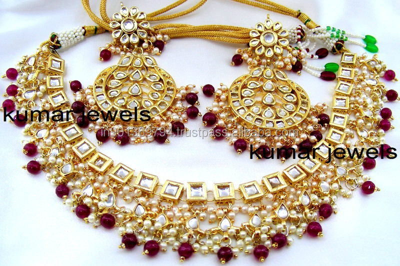 Ethnic Ruby Drops Necklace