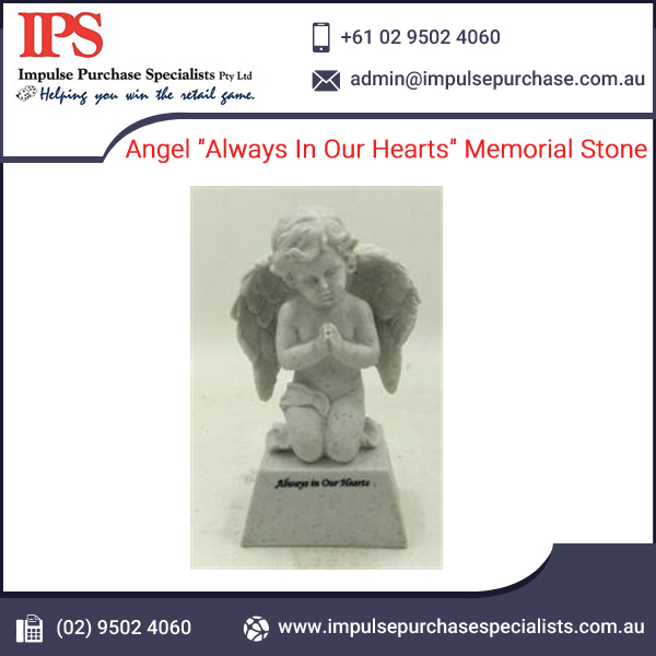 "Angel ""Always In Our Hearts"" Memorial Stone"