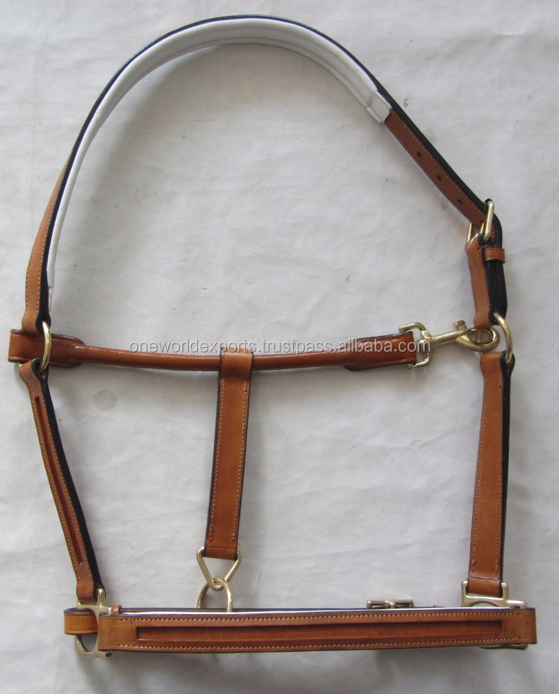 Empty channel DIY leather Horse Halter soft padded