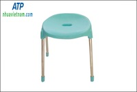 Plastic chair chair with metal legs and plastic seat