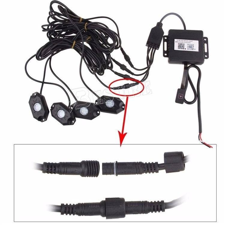Truck Accessories Automotive Decoration Lamp Under Body Kits RGB Rock Light Color Changing 4 Pod Kit/8 Pods kits
