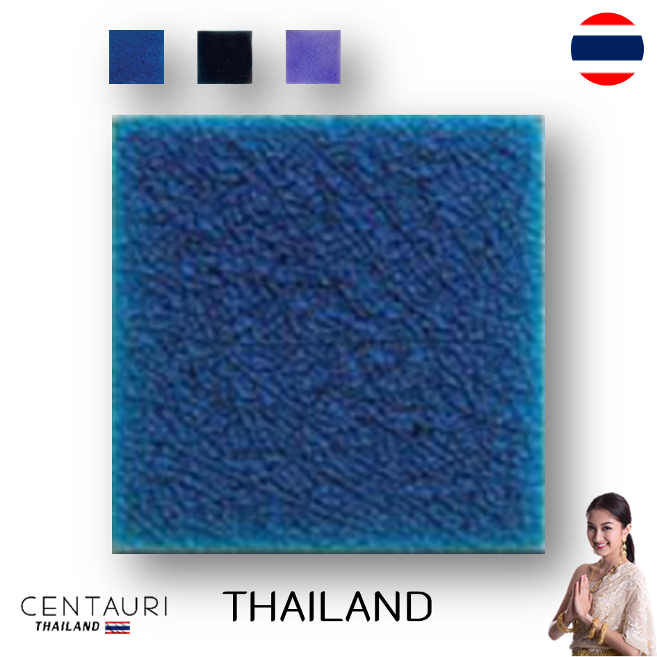 glazed 4''x4'' Square new purple blue light blue cracked pattern Thai Ceramic swimming pool tile from Thailand