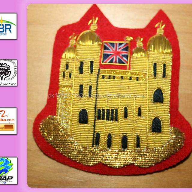 YEOMAN GAOLER'S APPOINTMENT BADGE TOWER OF LONDON GOLD BULLION WIRE