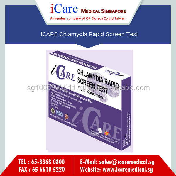 iCARE Chlamydia STD Rapid Test for Filed & Health Care Professional Use