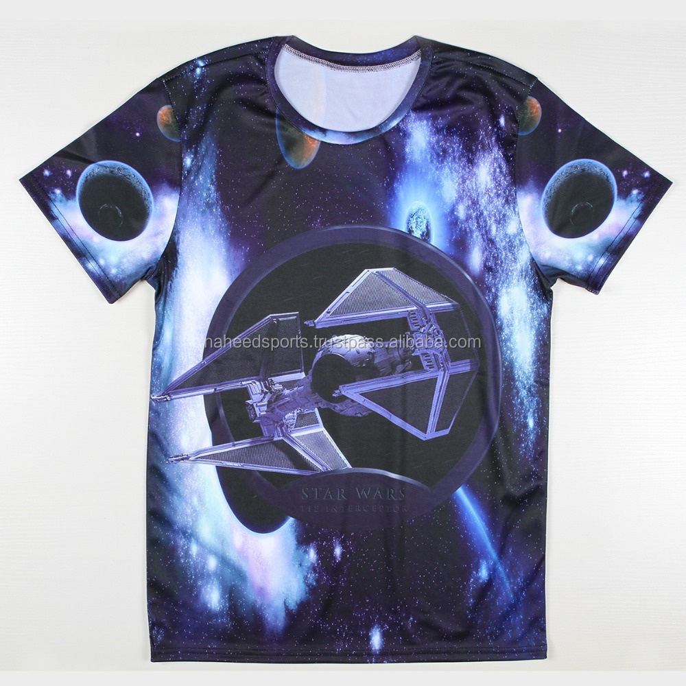 2016 OEM Breathable Full Print Customized 100% Polyester Sublimation 3D T Shirt