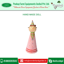 Jovial Looking Handmade Doll for Festive Occasion Decoration