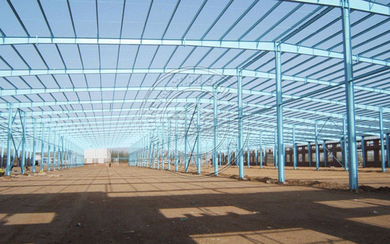 Steel structure high quality sandwish panel workshop&warehouse for sale