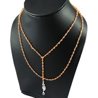 Sweet Honey Carnelian_Crystal 925 Sterling Silver Necklace_2015 Fashion Silver Jewelry_Indian Wholesalers Silver Jewelry