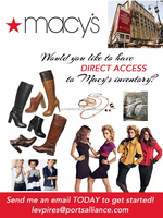 Direct Access to Macy's Overstock Merchandise - Clothing, Shoes, Children's Apparel, Handbags, etc - Build Your Own Load!
