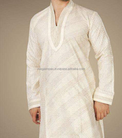 Wholesale Classic Custom Men's Double collar Shalwar Kameez Suits , Latest mens shalwar kameez