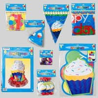 BIRTHDAY DECORATION ASSORTMENT 8ASST CUPCAKE DESIGN #G24665