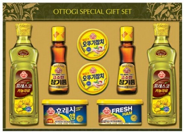Kroea Ottogi Gift SET16ho (Canned Tuna, Canola Oil, Fresh Ham,Sesame Oil)
