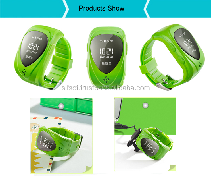 SIFIT-1.7 Bluetooth 4.0 GPS transmission Watch pedometer, Take-off alarm.