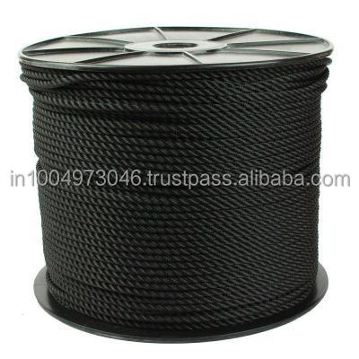 6mm : Polyamide Multifilament Rope (Nylon Rope) : Black Color