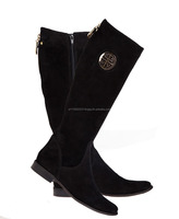 Genuine leather women's boots - high quality