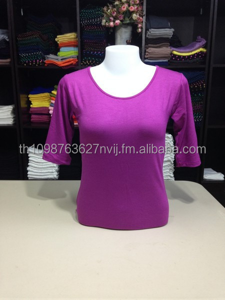 O-neck t shirts wholesale long sleeve women t-shirts slim fit blank spandex women TOP high quality