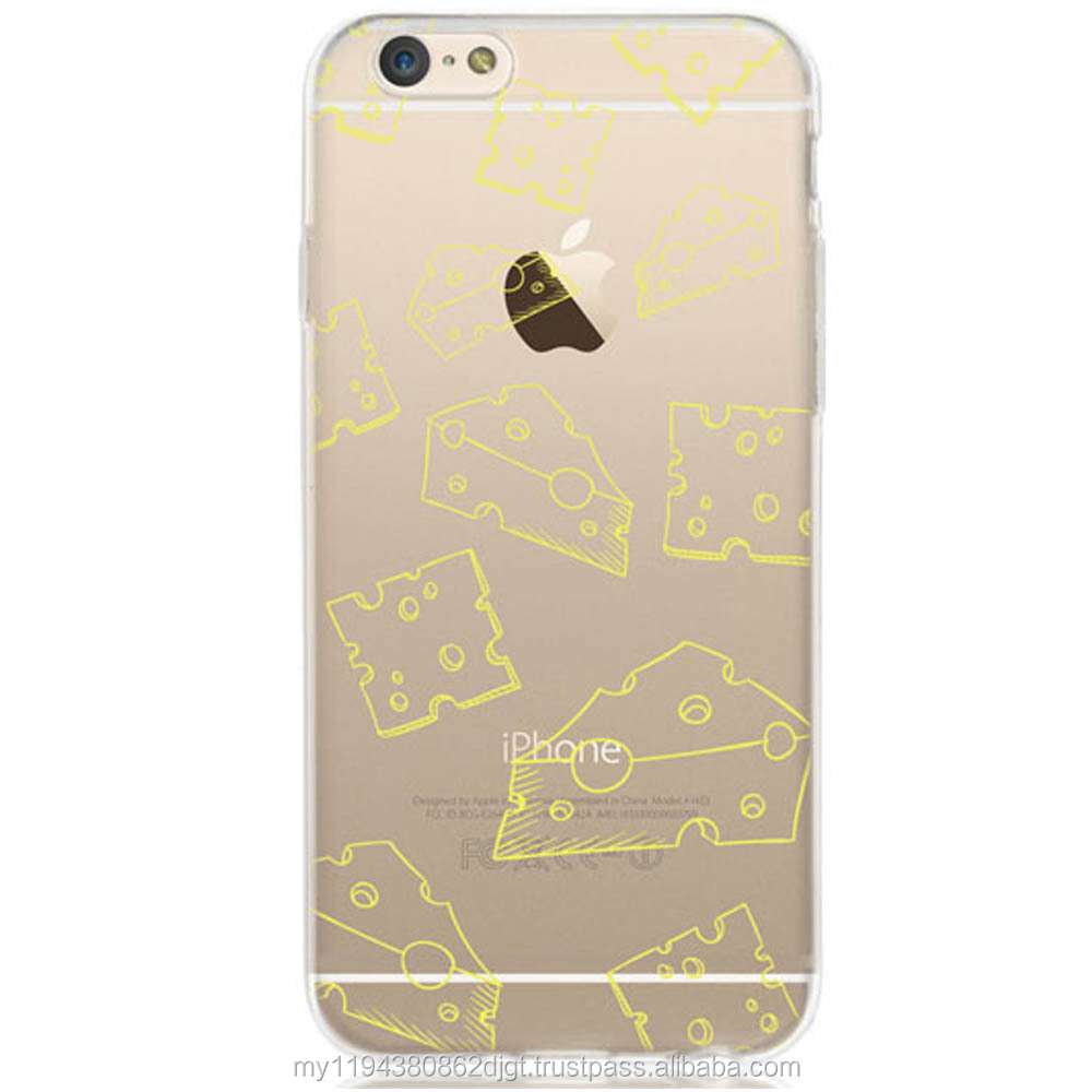 Printed Yellow Cheese Patterned Design Soft cover TPU case