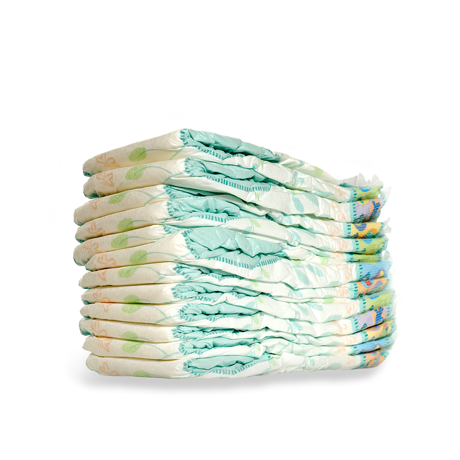 Cute Cartoon Colored Disposable Baby Diapers