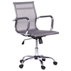 Middle back ergonomic desk computer office mesh swivel working chair with chrome base CARMEN 8801 Silver color