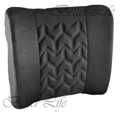 Portable Massaging Cushion Lumbar Fabric Black Breathable Lower Back Seat Care