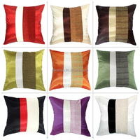 MODERN SILK THROW ACCENT DECORATIVE PILLOW CASE / CUSHION COVER FOR SOFA COUCH & BED CUSTOM SIZE UP TO YOUR ORDER