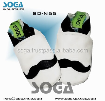 mustache baby shoes