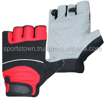 Top best selling products leather cycling gloves/cheap price short finger genuine leather gloves /custom cycling gloves