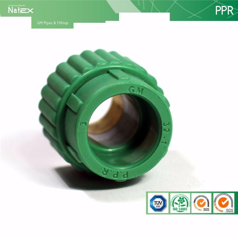 Ppr macho adaptadores con inserto de laton tubos