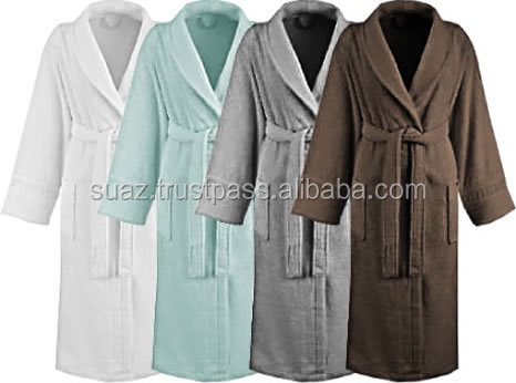 Bathrobe Factory price , Cotton Multi color Terry bathrobe , customized men and lady terry bathrobe cotton