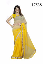 Plain Chiffon Saree | French Chiffon Saree