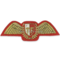 Armed forces of malta task force helicopter pilots breast embroidery wing badge