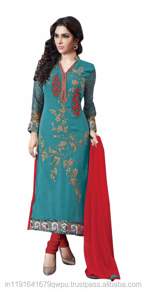 Pure Lawn Cotton Straight Churidar Salwar Kameez/Party Wear Embroidery Dress/Designer Dress Online Shopping In india Surat