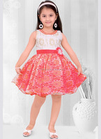 Kids wear indian supplier party wear girls frocks - Kids girls frock - Red frock - Baby frock patterns