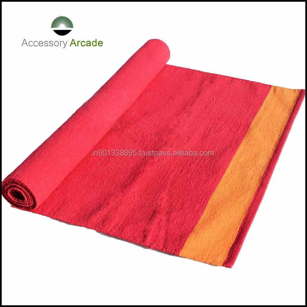 Striped Handwoven Cotton Washable Yoga Rugs   Buy Cotton Rug,Yoga Rug,Yoga  Mat Product On Alibaba.com