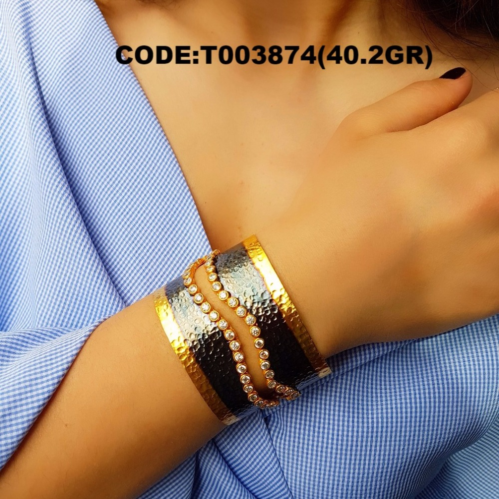 Wholesale 2017 turkish made new model, bracelet , nice , code : T003874 , 925 sterling silver jewellery