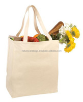Customized Cotton Canvas Tote Bag / Promotion Recycle Organic Cotton Tote Bags Wholesale