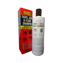 Premium Dinos Ticks, Lice and Fleas Dog Shampoo